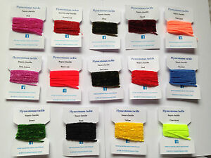 ALL OUR COLOURS RAYON CHENILLE 2 METRE SIZE 0 + 00 FLYNSCOTSMAN TACKLE FLY TYING