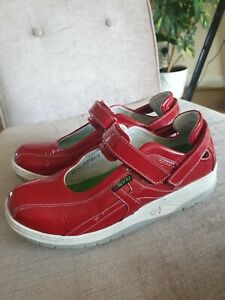 Sano By Mephisto Red Leather Shoes Size UK5.5