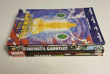 Marvel Thanos Infinity TPB Lot - Gauntlet Samaritan Quest 1 2 All First Prints