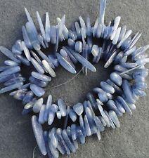 10-18mm Denim Azul Cianita Piedras Preciosas Semipreciosas Palo de formato libre Cadena De Perlas