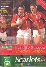Llanelli V Glasgow 12 OTT 2002 programma RUGBY HEINEKEN CUP