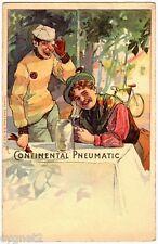 POSTCARD GERMAN CHROMO CONTINENTAL TIRES BICYCLE BEER