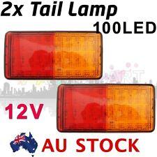 2X Clear LED Tail Light Turn Signals Rear Ligh LED Brake + INDICATOR 12V AU ship