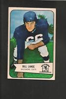 1954 Bowman # 62 Bill Lange Ex-Mt
