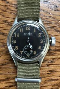 Vintage 1940's/WW2-era Bulova Men's Watch- Sub-Second dial