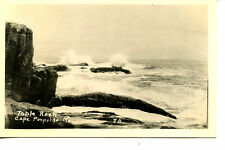 Waves Water at Table Rock-Cape Porpoise-Maine-Rppc-Vinta ge Real Photo Postcard