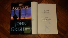 SIGNED John Grisham The Associate Book 1/1 HC DJ Legal Thriller Kyle McAvoy Yale
