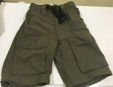 Boy Scout Webelos Official Youth S Green Nylon Dry Uniform Shorts 23� Waist D000