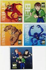 5 x Square Stickers ~ Ben Ten 10 Alien Force Spidermonky Humungousaur Jet Ray ~