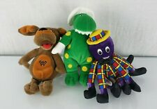 2003 Spinmaster The Wiggles Stuffed Plush Beanbag Set Lot Dorothy Wags Dog Henry