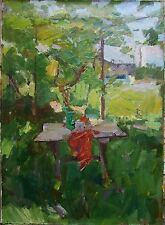 Russian Ukrainian Oil Painting Impressionism flowers sunny day rural Still Life