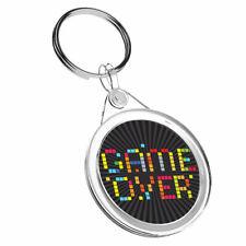 1 x Game Over Retro Gaming Gamer - Keyring IR02 Mum Dad Birthday Gift #14129