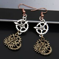 1 Pair Fashion Steampunk Gear Earring Bronze Fashion Ear Hook Dangle Jewelry
