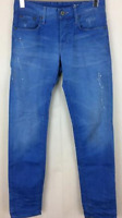 Gstar 50779 Tapered Fit Jeans Light Wash Paint Mens UK Size 30W 32L *REF89