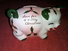 A SIRO Product.  A China Piggy Bank that Says:  Save for a Merry Christmas.