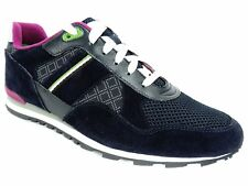 Hugo Boss Men's Runcool Fashion Sneakers Dark Blue Suede & Leather Size 8 M
