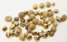 LOT of 50+ Vintage Brass RCAF Royal Canadian Air Force Buttons and 3 Cuff Links