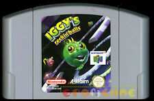 IGGY'S RECKIN BALLS Nintendo 64 N64 Pal Versione Europea ••••• SOLO CARTUCCIA