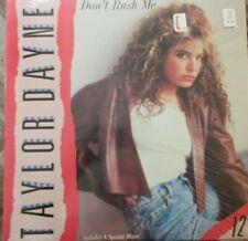Taylor Dayne : Don't Rush Me 1988 Single Record ( Original Shrink )