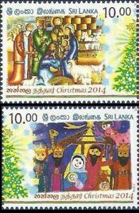 Sri Lanka  2014 Christmas Religion Festival Nativity Art Stamps set 2v