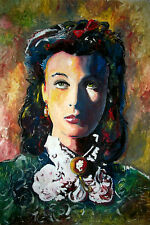 VIVIEN LEIGH SCARLETT O'HARA GONE WITH THE WIND ! MARCELO NEIRA ORIGINAL ART 40""