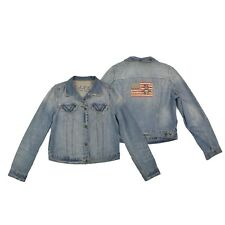 PJC RALPH LAUREN Damen Jacke L 40 Jeansjacke blau Woman Jacket Vintage TOP