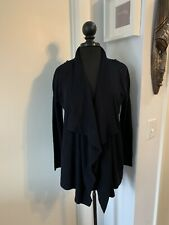 ALLSAINTS All Saints Navy Blue Waterfall Cardigan with Zipper Shoulders Size M