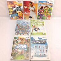 Lot of 7 Nintendo Wii Activity Fitness Sports Games EA Ubisoft Namco