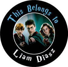 24 Round Harry Potter Personalized Property Stickers Name Tags School Labels