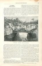 Blow-Hole Blowhole geology Trou geyser maritime Tasmanie Australie GRAVURE 1886