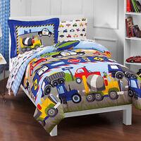 Toddler Bedding Set Reversible Comforter With Sheets Boy Girl Kid Car Truck New