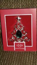Lenox 4 1/2 Inch Gemmed Christmas Tree Holiday Ornament Mib