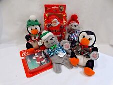 "Coca-Cola Christmas Bean Bag Plush, Playing Cards, and Coasters ""Santa"""