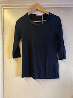 Hugo Boss Black Top Blouse Shirt Size INT XS RRP £139 Sequins