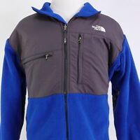 THE NORTH FACE BLUE GRAY COLOR BLOCK FULL ZIP UP FLEECE JACKET MENS SIZE XL