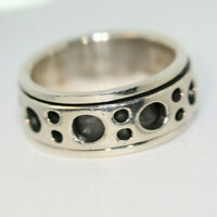 CLASSY MEN'S WOMEN'S SOLID 925 STERLING SILVER HEAVY WIDE SPINNING RING SZ 7.25