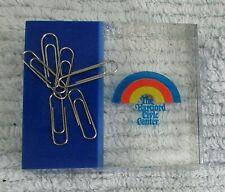 "3"" Acrylic Block Magnet Paper Clip Holder Blue Hartford CT Civic Center FREE S/H"
