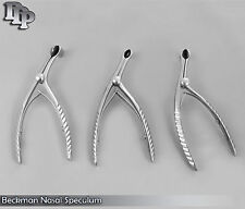 3 Beckman Nasal Speculum (Small Medium Large) ENT Surgical Instruments
