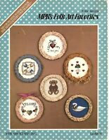 MPR's Folk Art Favorites Mini Counted Cross Stitch Design Patterns Leaflet 1985