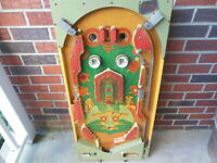 Vintage Bally Ro Go Pinball Machine Playfield Only Nice For Parts / Display