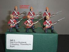 FRONTLINE FIGURES 24F2 ZULU WAR BRITISH 24TH FOOT STANDING + KNEELING TO REPEL