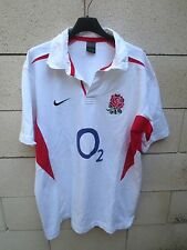 Maillot rugby ANGLETERRE NIKE shirt ENGLAND 2003 jersey coton vintage O2 XL