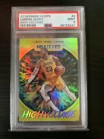Lebron James 2019-20 Hoops High Voltage SHORT PRINT INSERT #2 PSA 9 MINT Lakers