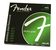 Fender 50XL Stainless Flatwound Light Electric Jazz Guitar Strings 073-0050-402