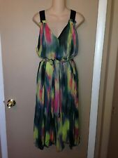 SIMPLY VERA WANG LADIES SUMMER MULTI-COLORED DRESS SIZE LARGE.