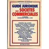 Genevieve de Bousque - Guide juridiques societes commerciales
