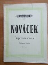 Notas. novacek. perpetuum mobile para violín y piano.
