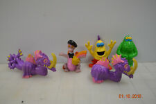 LOT OF DRAGONS EPCOT CENTER MASCOT 1982 FIGMENT PVC FIGURE W/ RAINBOW MONSTERS