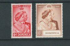 Dominica KGVI 1948 Royal Silver Wedding SG112/3 MNH
