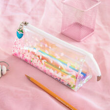 Durable Pink Clear Sakura Pencil Case Pencil Holder Pencil Bag Stationery